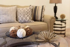 Vacant Home Staging Family Room Accessory Details www.Organized-by-Design.biz