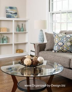 Vacant Home Staging Living Room close-up www.Organized-by-Design.biz