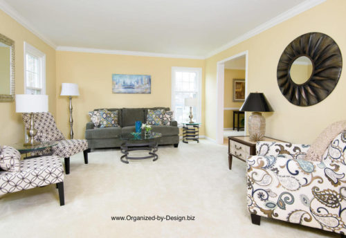 Living Room Stages With Furniture And Accessories By Organized By Design