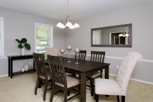 Vacant Home Staging of Dining Room www.Organized-by-Design.biz