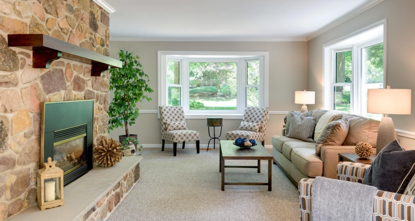 Vacant Home Staging Family Room www.Organized-by-Design.biz