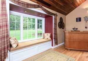 Family Room Bump out window renovation by Organized by Design
