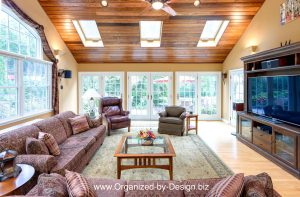 Family Room Redesign Renovation by Organized by Design