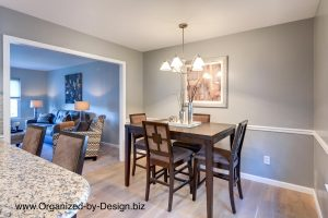 Home Staging a Dining Area in Downingtown, PA by Organized by Design