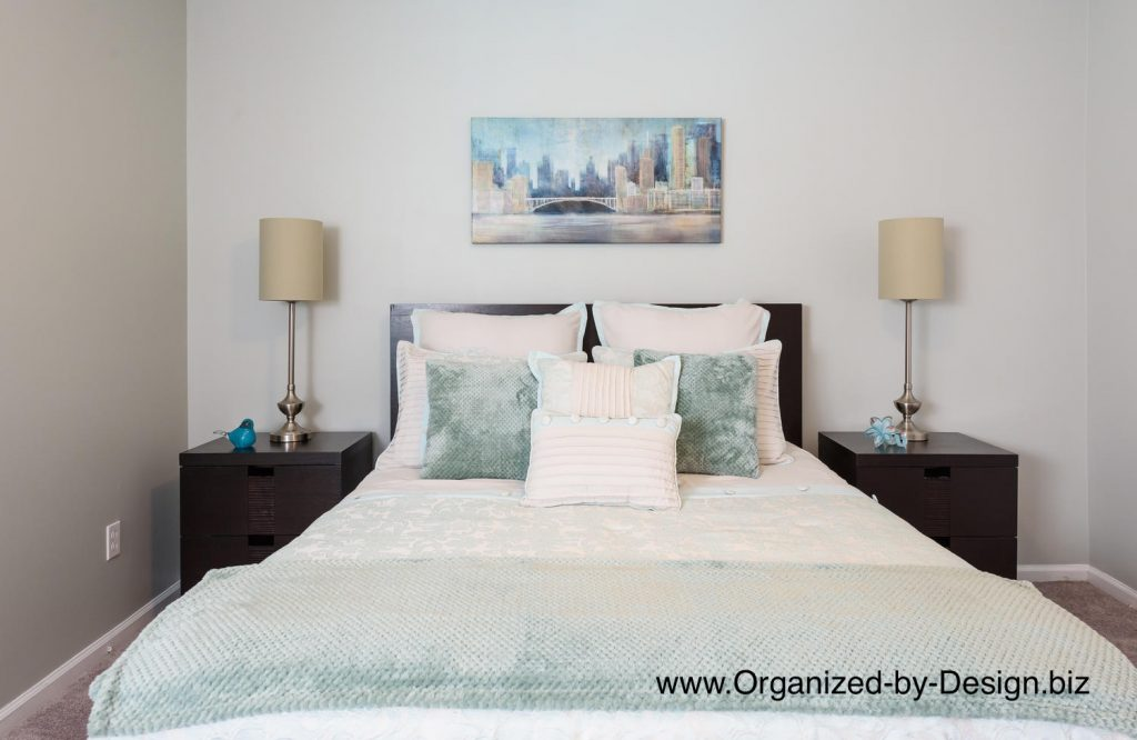 Master Bedroom staged by Organized by Design