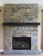 Custom Stone Fireplace Makeover Project