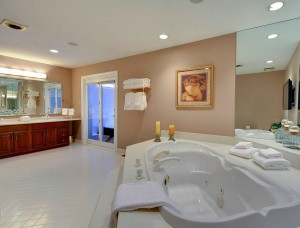 Master Bathroom shown neatly organized and staged