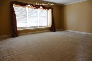 Master Bedroom before staging
