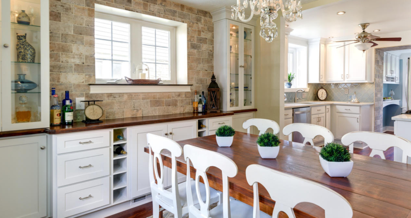 Dining Room and Kitchen Home Makeover Renovation www.Organized-by-Design.biz