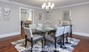 Vacant Home Staging of Dining Room