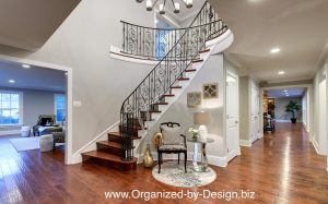 Foyer staged by Organized by Design