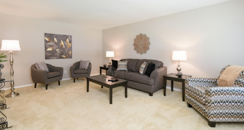 Vacant Home Staging Living Room www.Organized-by-Design.biz