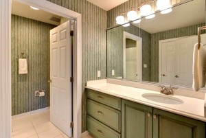 Guest Bathroom shown neat and organized