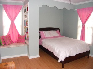 Little Girl Bedroom shown organized