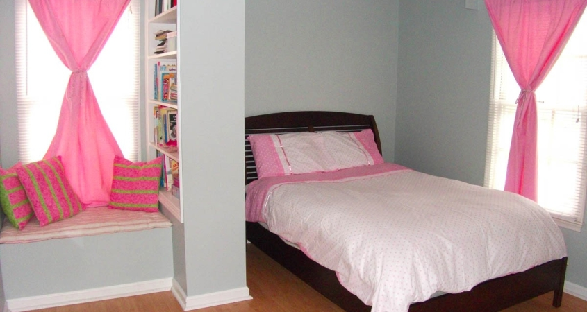 Little Girl Bedroom shown organized