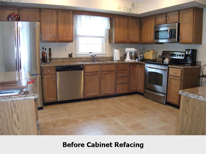 What is refacing kitchen kitchen cabinet for Cost to refinish cabinets