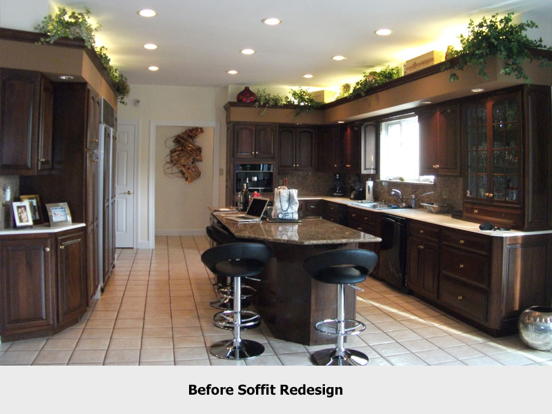 A Picture Of Above Kitchen Soffit Decorating Ideas Html on