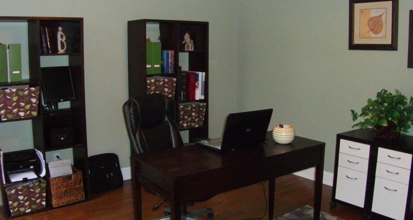 Organized Home Office shown neat and uncluttered