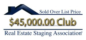Home Staging Sold $45,000 over list price