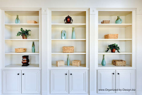 Home Staging Styled Bookcase Built-ins by Organized by Design
